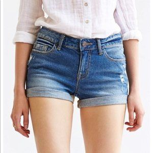 BDG Shortie Mid Rise Distressed Jean Shorts Sz 28